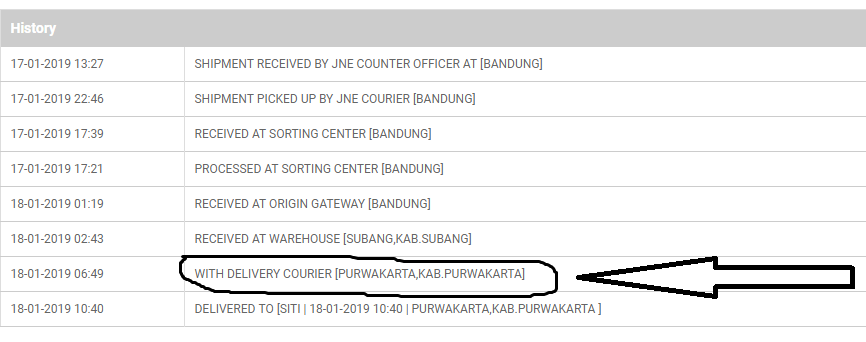 Pengertian With Delivery Courier JNE