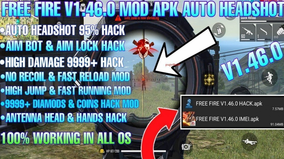 Game Free Fire FF MOD Apk Terbaru (Unlimited Diamonds & Coins)