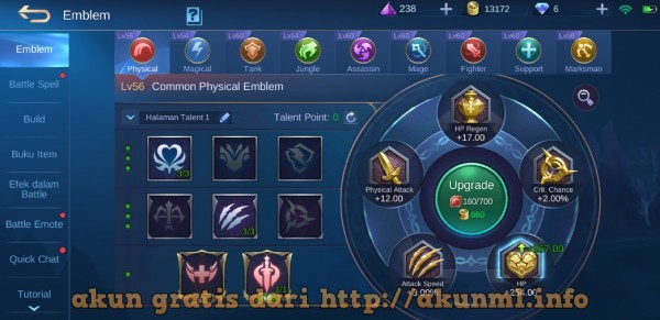 Akun ML Rank Legend Gratis Bulan [bulan]
