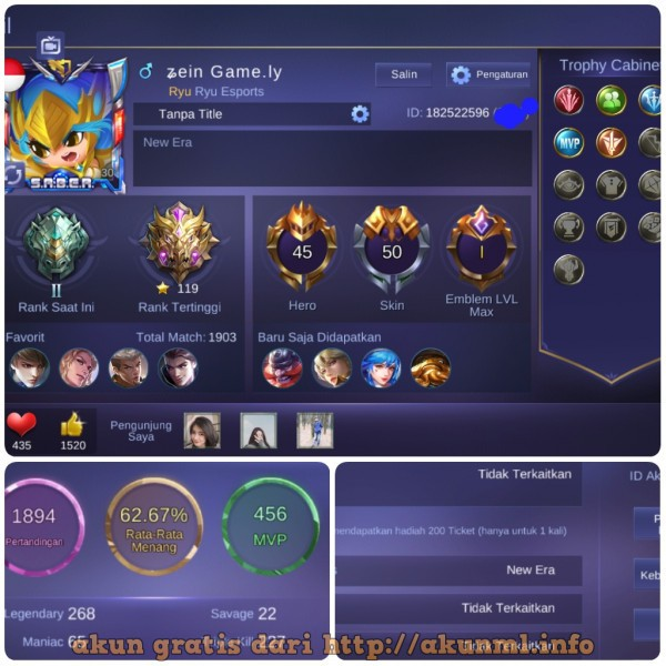 Akun Mobile Legends Gratis: Spek SUPER Mantap GG