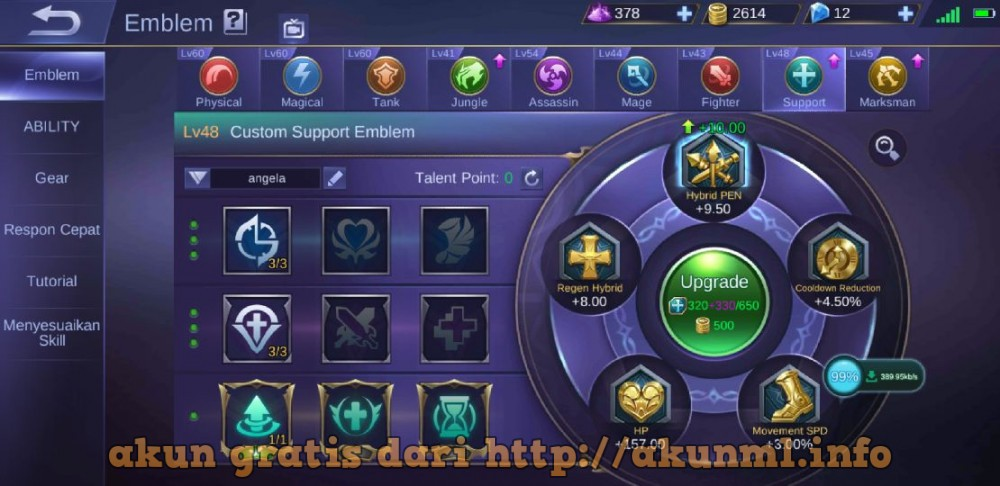 Akun Mobile Legends Edisi Sultan