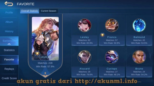 Akun Gratis Rank EPIC, BP & WR SULTAN, HERO Nya mantap